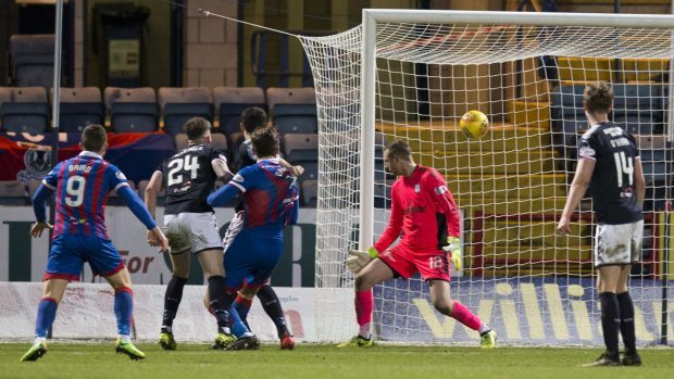 The fan died after initially being treated during Dundee FC's match against Inverness Caledonian Thistle.