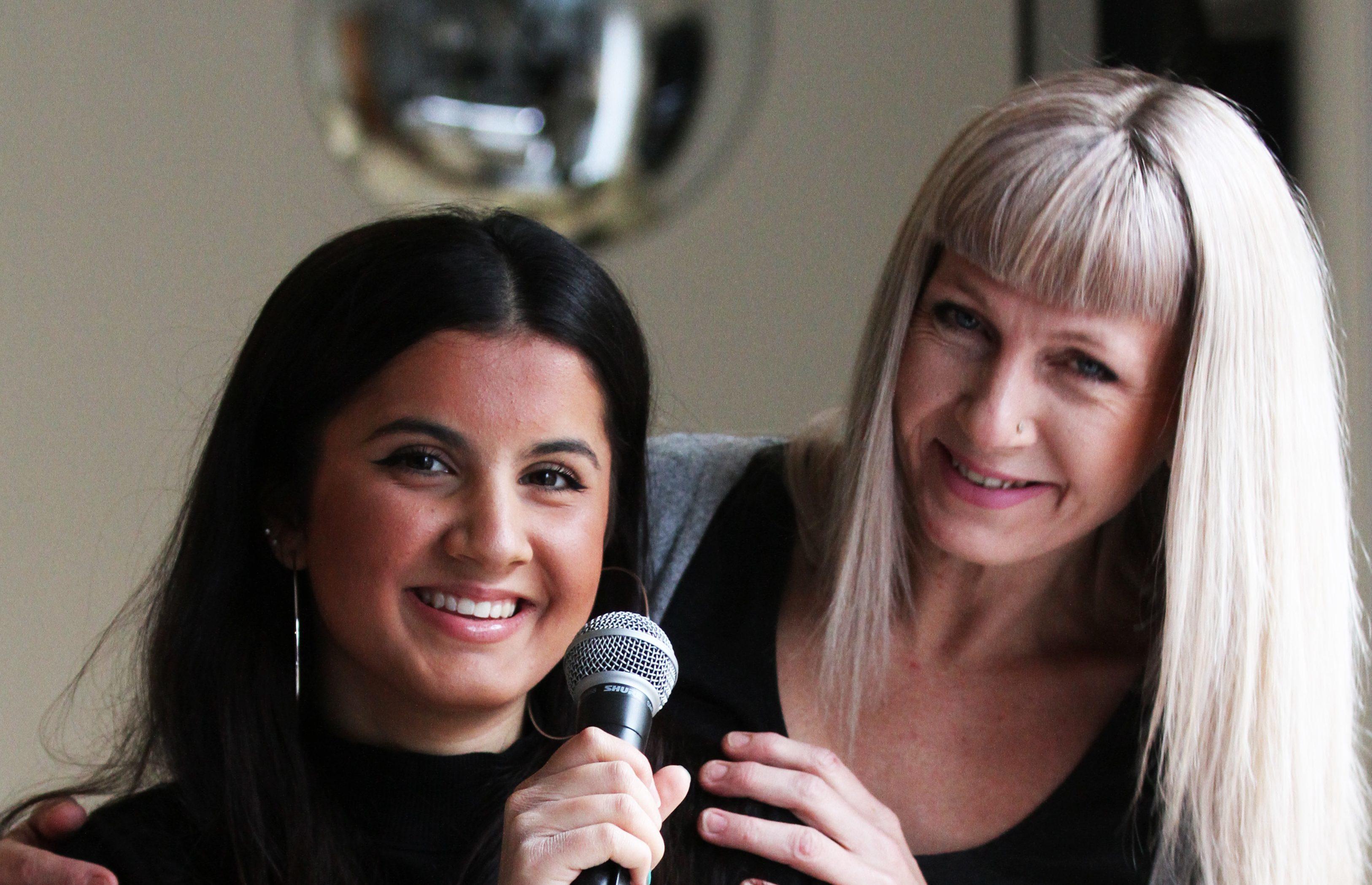 Priya Ferguson with mum Rochelle.