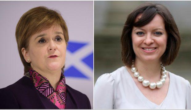 Nicola Sturgeon (left) and Jenny Marra