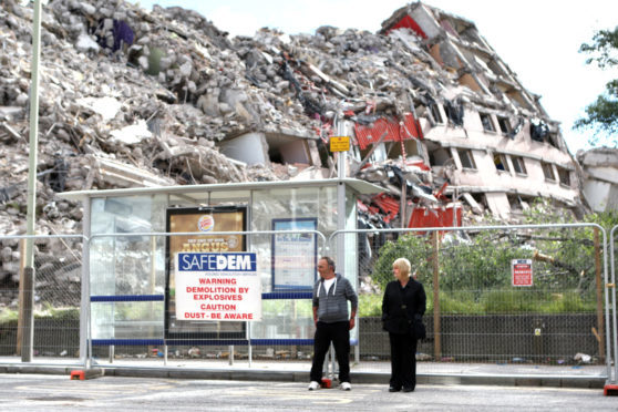 Dundee's Derby Street multis were demolished in 2013 to make way for new more affordable housing