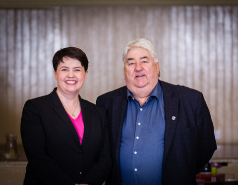 Councillor Ian Campbell with Ruth Davidson.