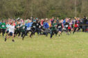 The cross country championships at Perth racecourse.