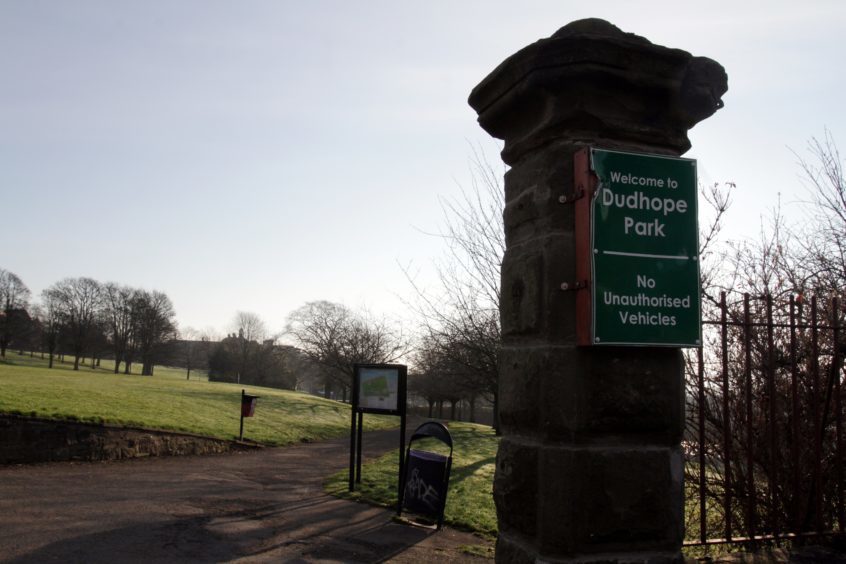 Dudhope Park in Dundee.