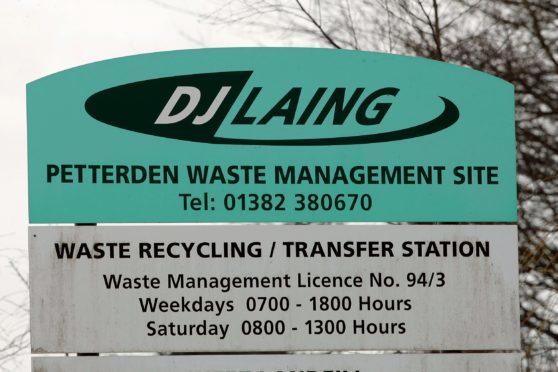 DJ Laing's waste management site at Petterden.