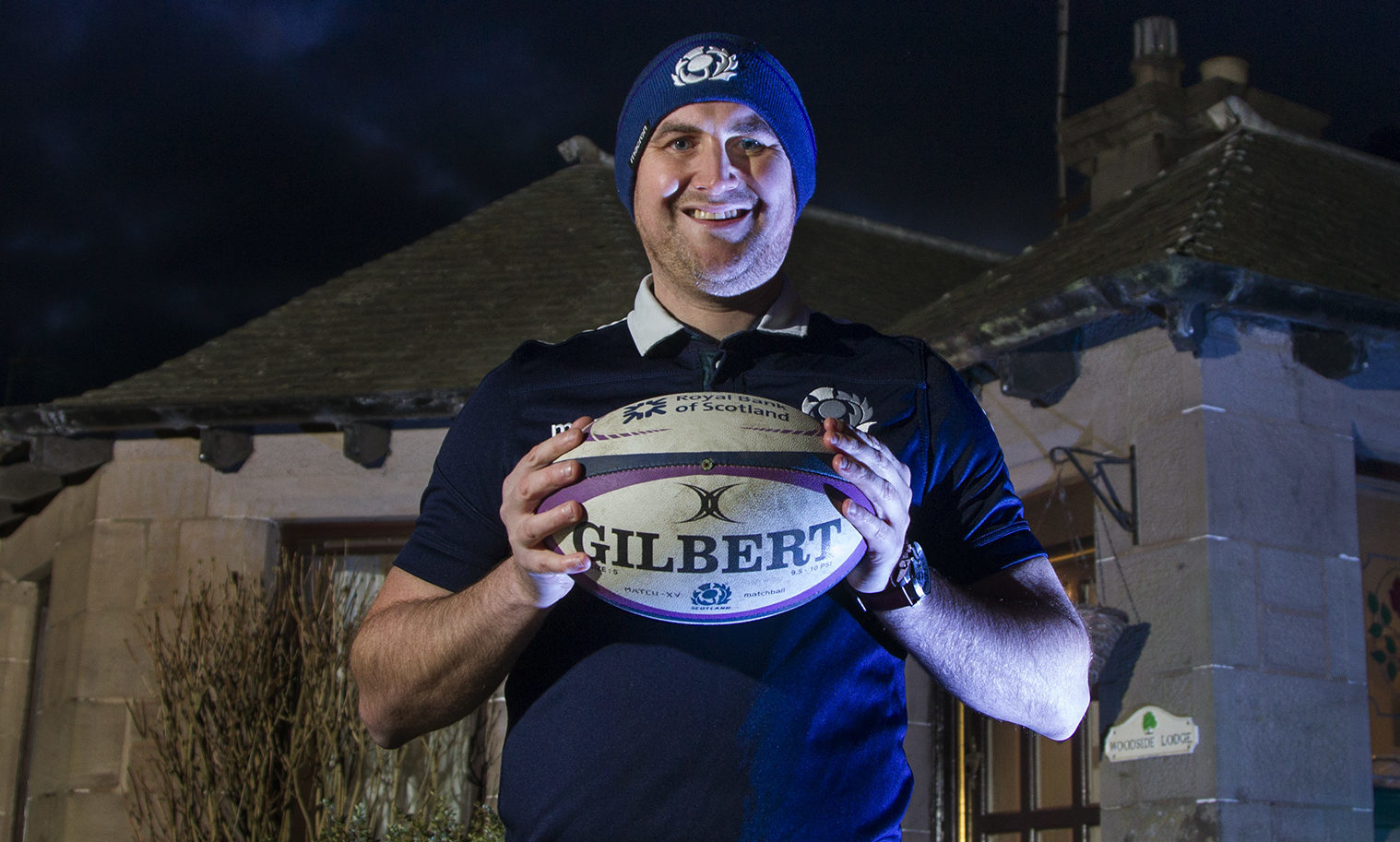 Arbroath man Iain Cooper caught the match-winning rugby ball at the end of Saturday's Calcutta Cup victory at Murrayfield.