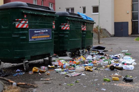 Overflowing Euro bins from last summer.