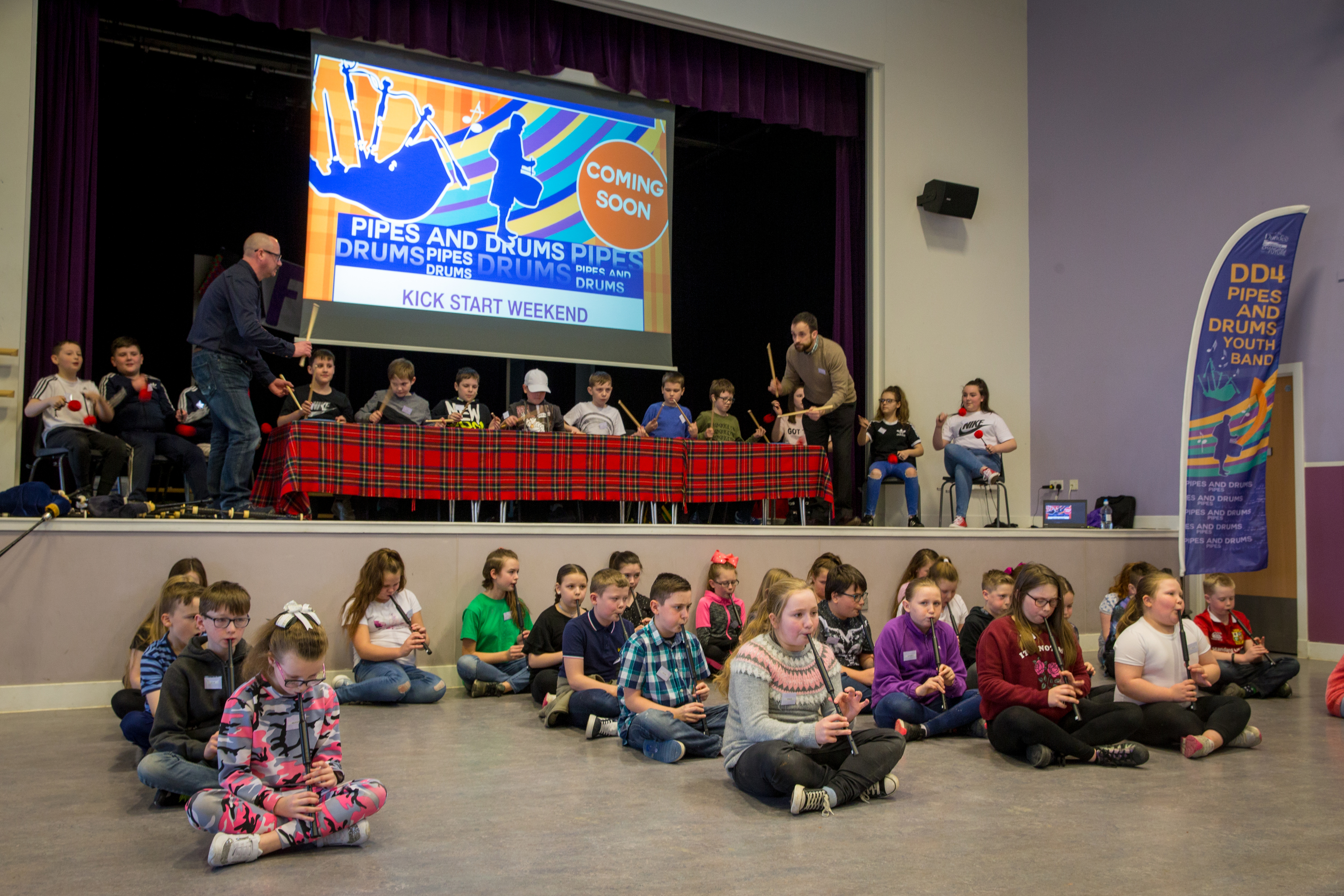 The kick start weekend took place at Fintry primary school.