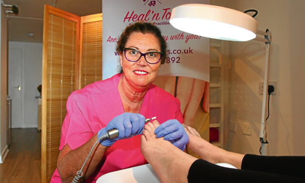 Elaine Woods set up Heal 'n Toes in Dundee last year