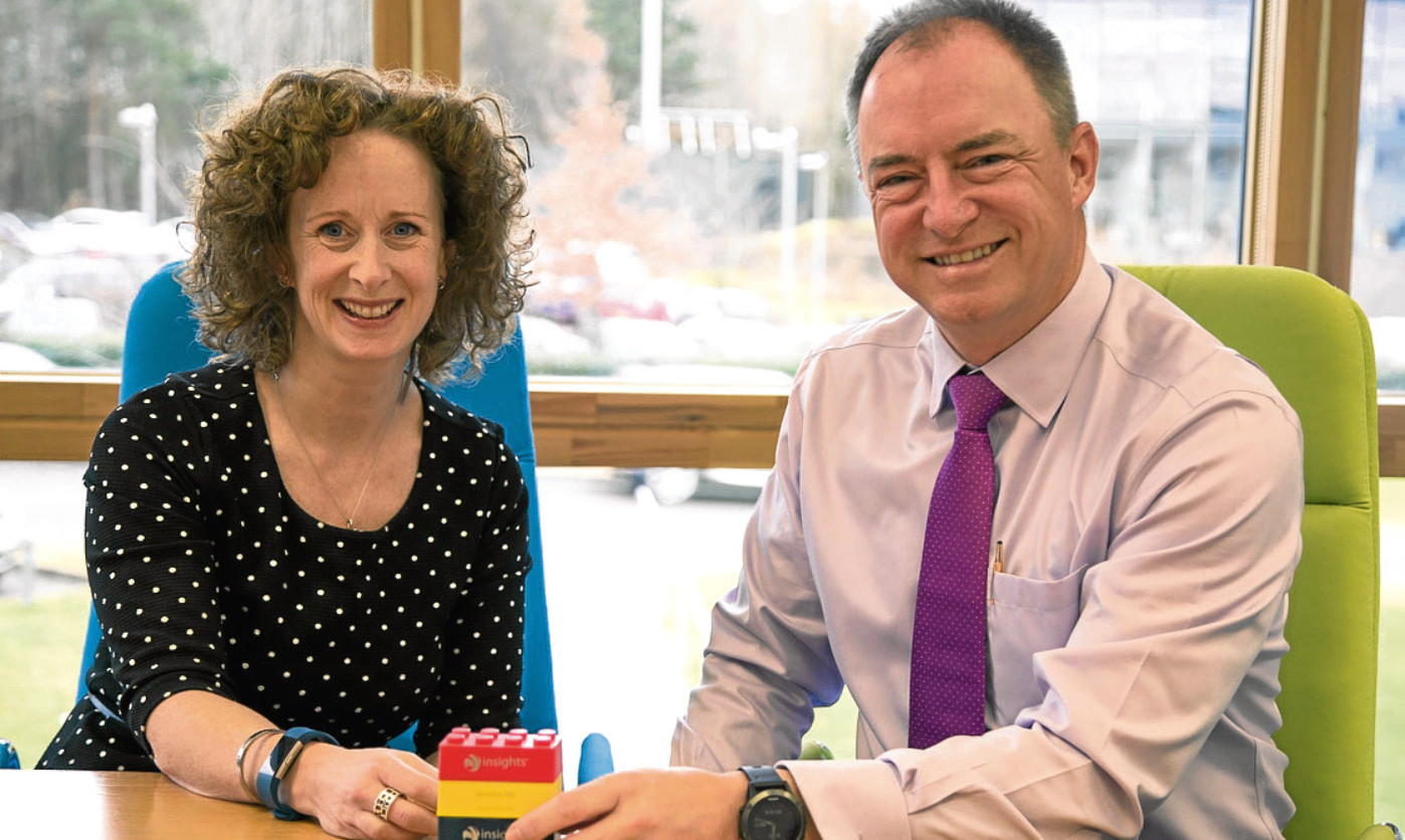 Insights Group CEO Andy Lothian with new Insights Learning and Development chief executive Fiona Logan