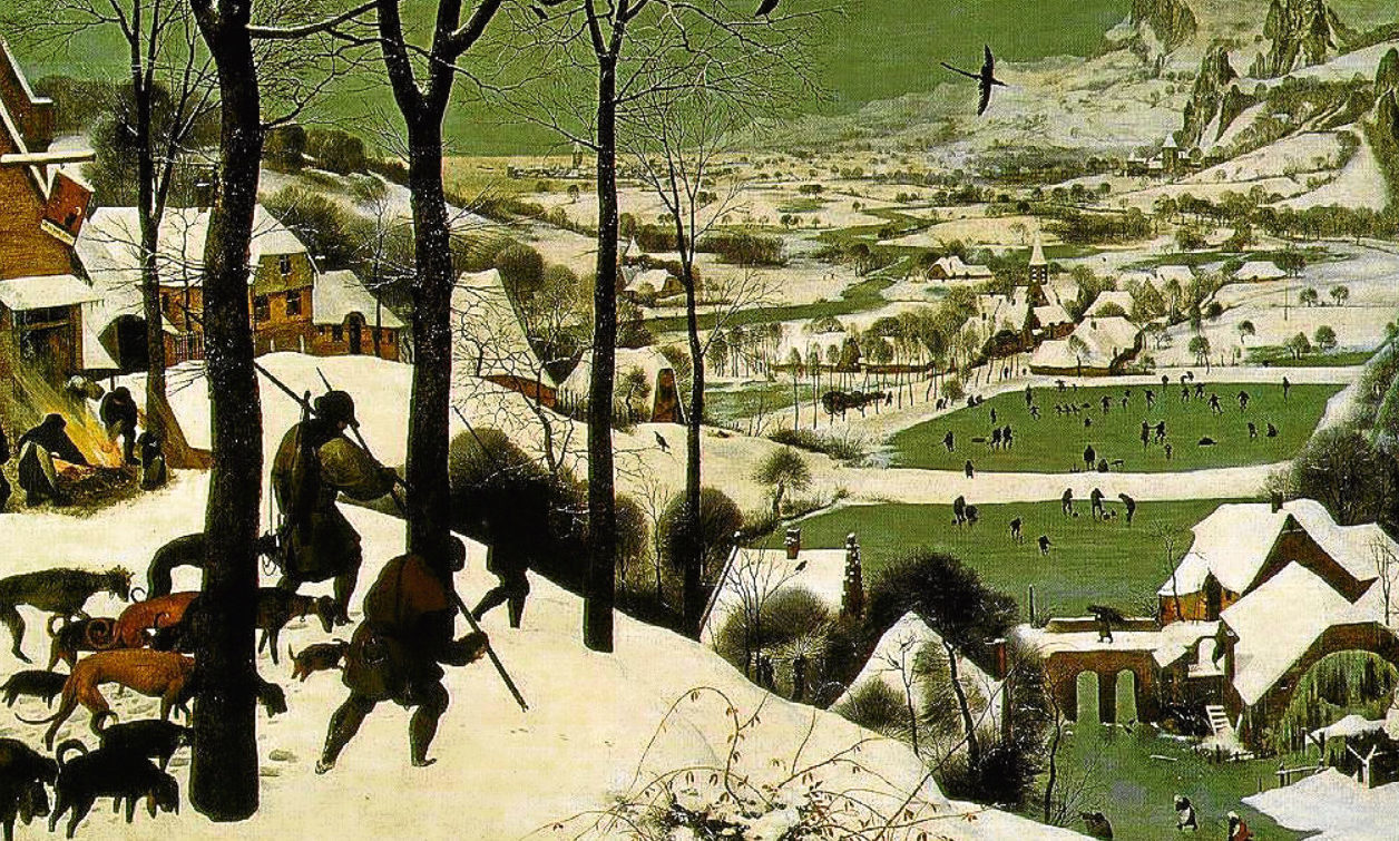 Pieter Bruegel the Elder's 1565 painting, The Hunters In The Snow.
