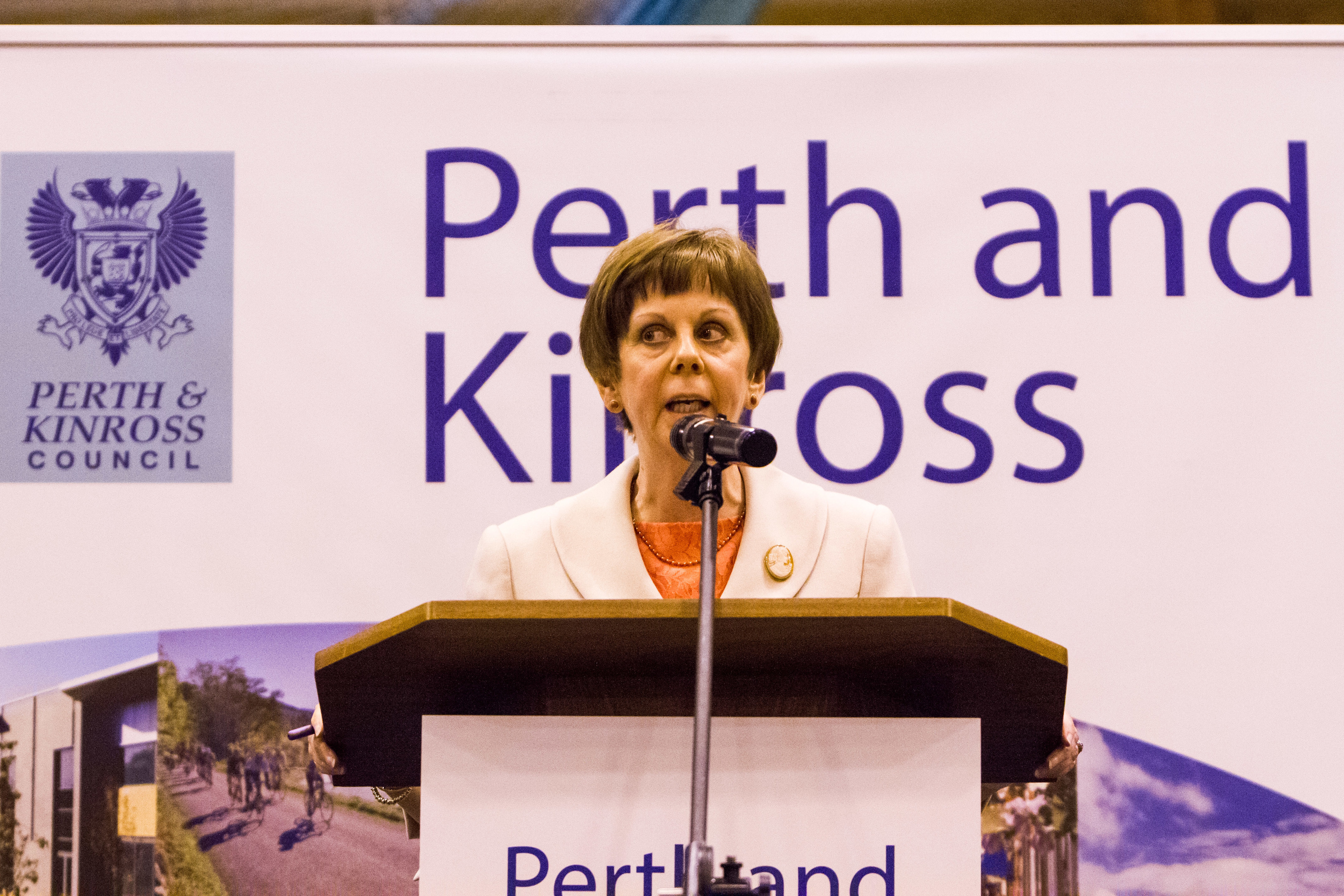 Bernadette Malone at a recent Perth and Kinross Council election count.