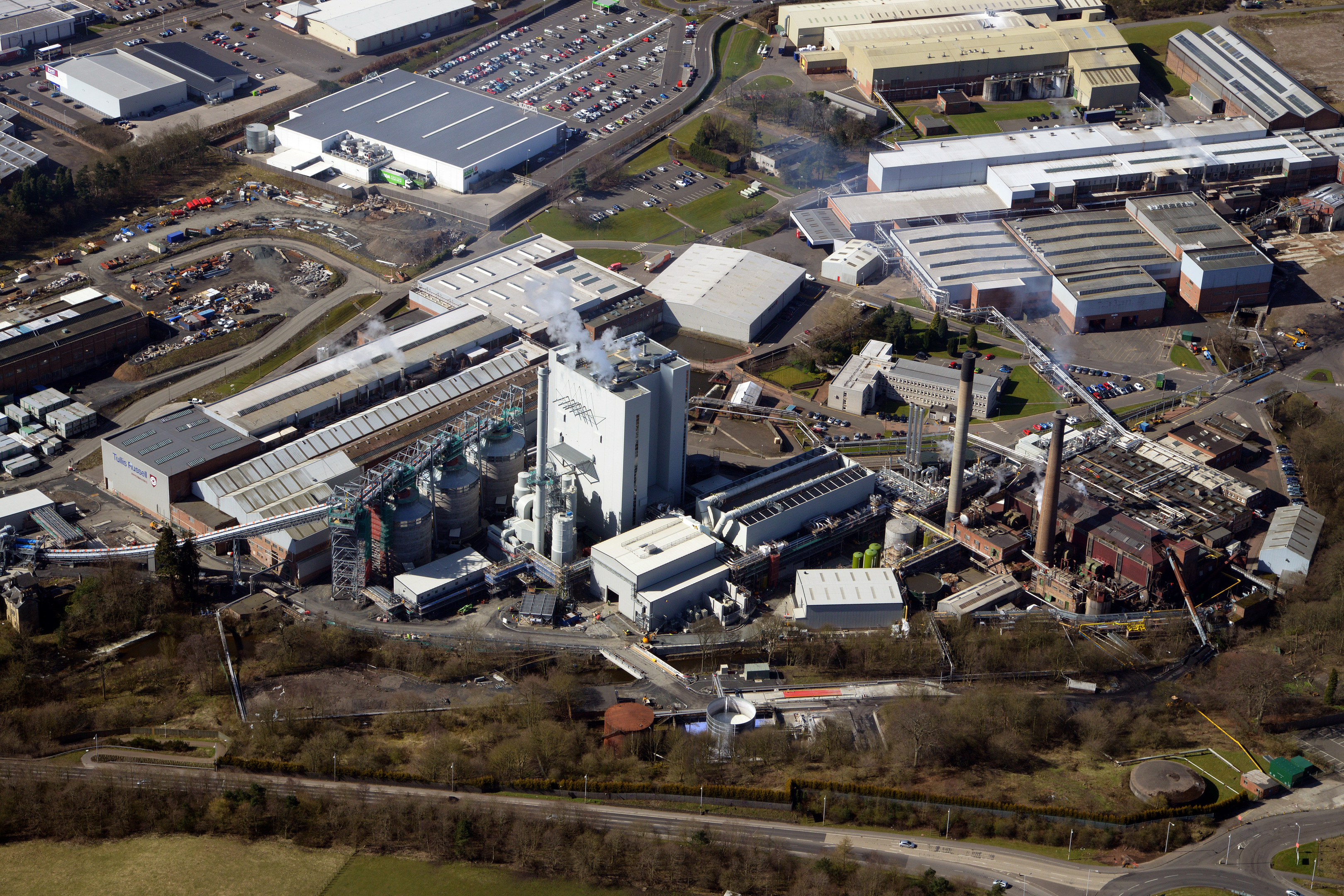 The biomass plant at Markinch.