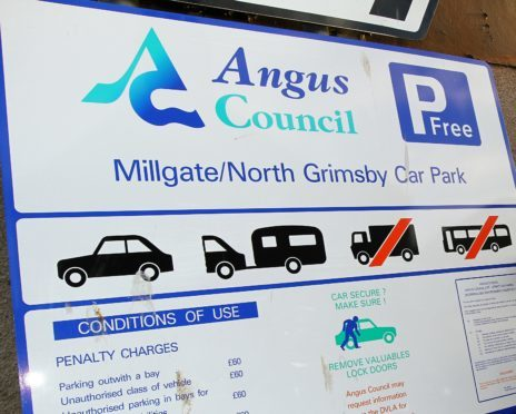 Angus parking charges were brought back in November.