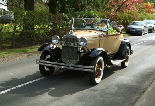 .A class car in last year's Drive It Day at Blairgowrie.