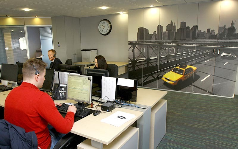 Picture shows the offices of Tele Taxis in Dundee