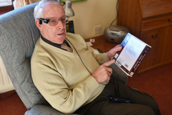 Rod MacLaren was given the glasses by charity Scottish War Blinded.