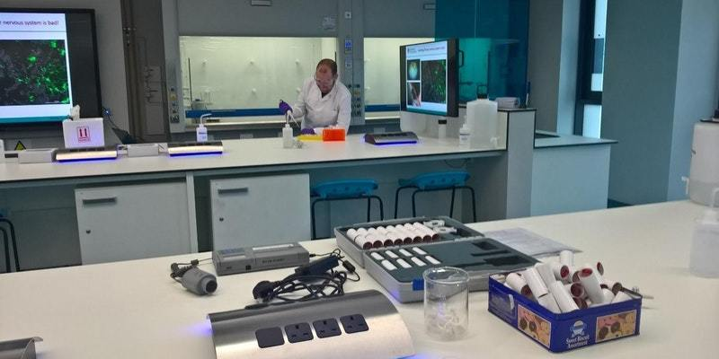 Dr Moult in his neuro science lab.