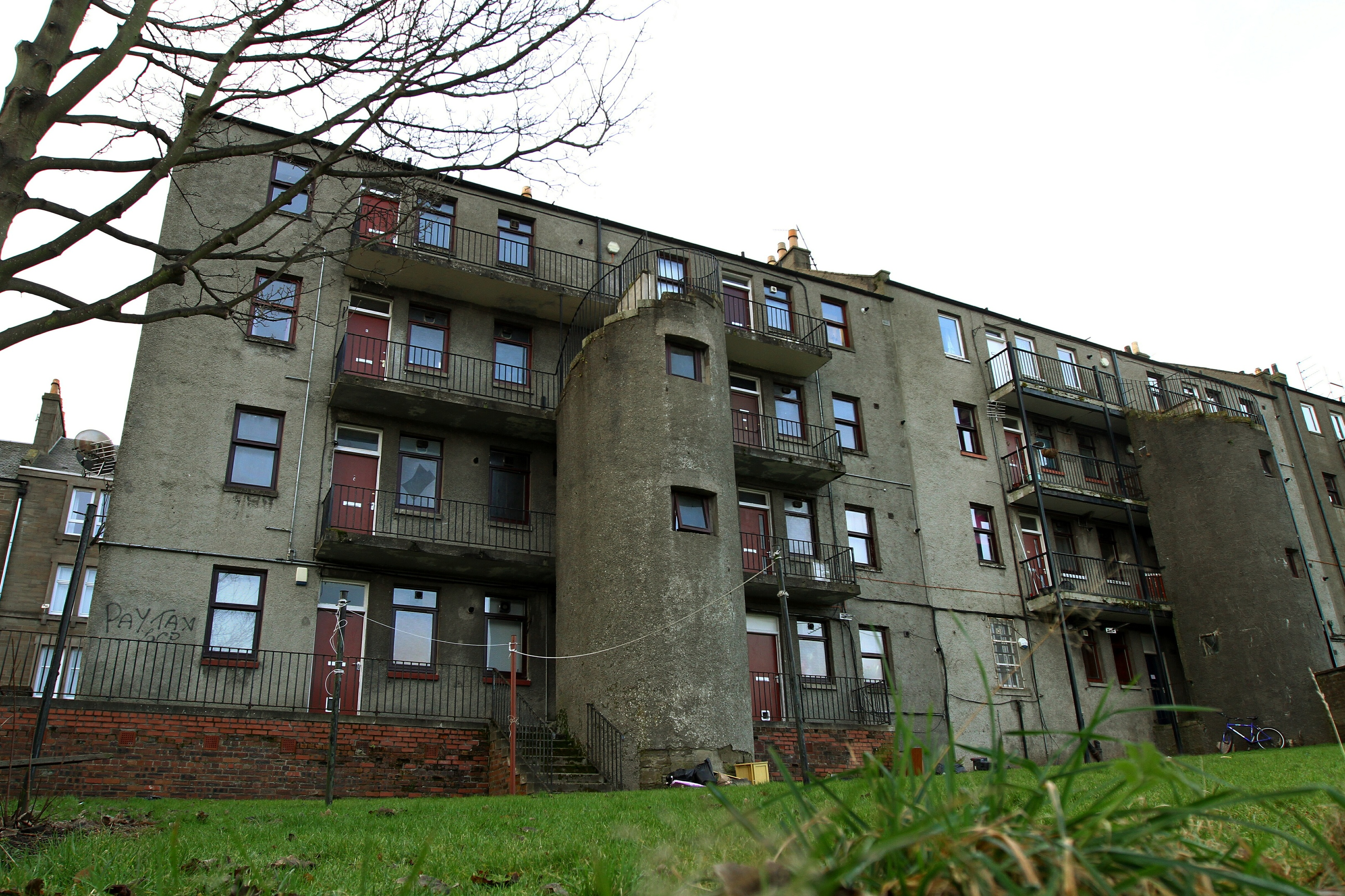 The Blackness Road flats are earmarked for demolition.