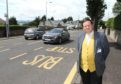 West End Community Council chair Peter Menzies pictured on Blackness Road, an area which could benefit under the new brand proposals.