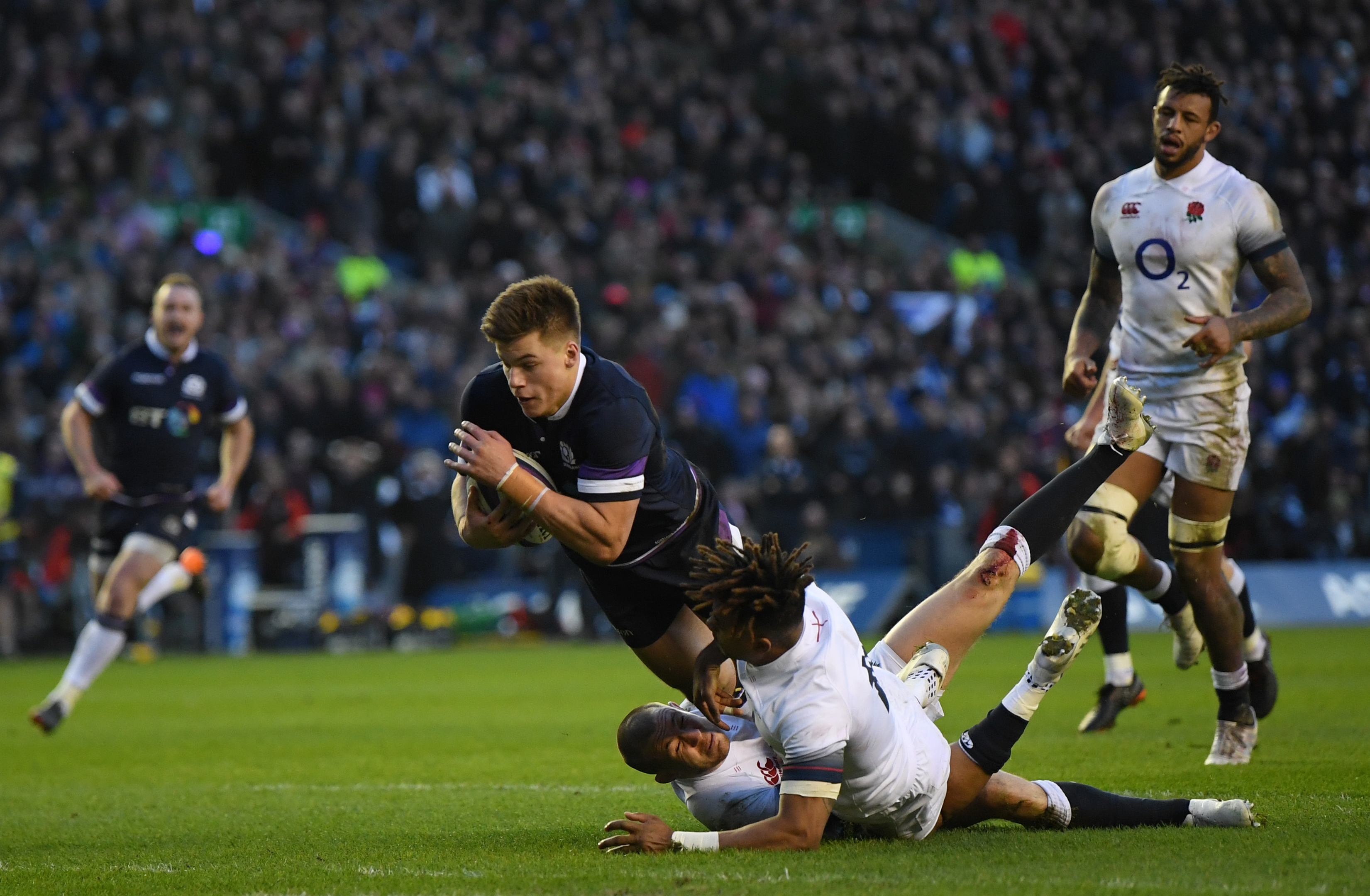 Huw Jones of Scotland has 10 tries in just 16 starts for Scotland.