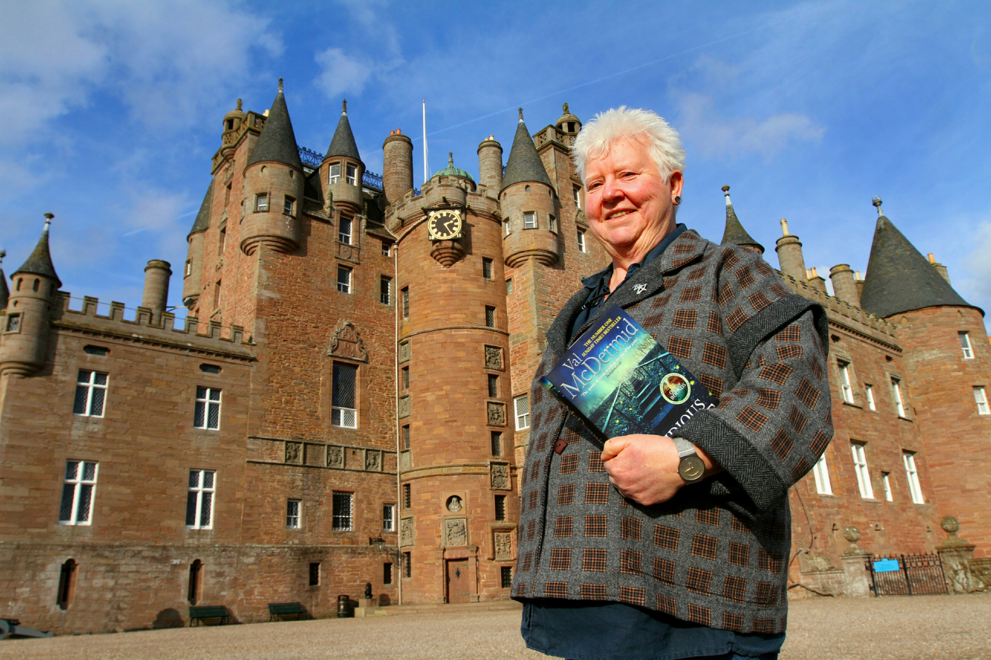 Scottish crime writer Val McDermid,at Glamis Castle.
