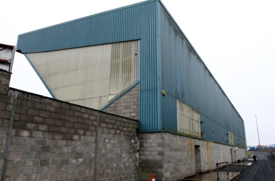 The North stand at McDiarmid Park, Perth.