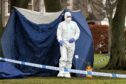 Forensic specialists at the scene in Orchar Park, Broughty Ferry