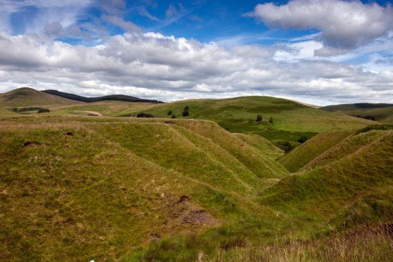 The Glenquey area, near Glenqeut Reservoir, in better weather. It is a popular walking route.