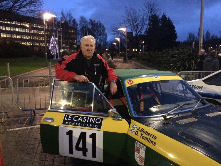 Angus driver John Roberts with his Fiat 124 Coupe
