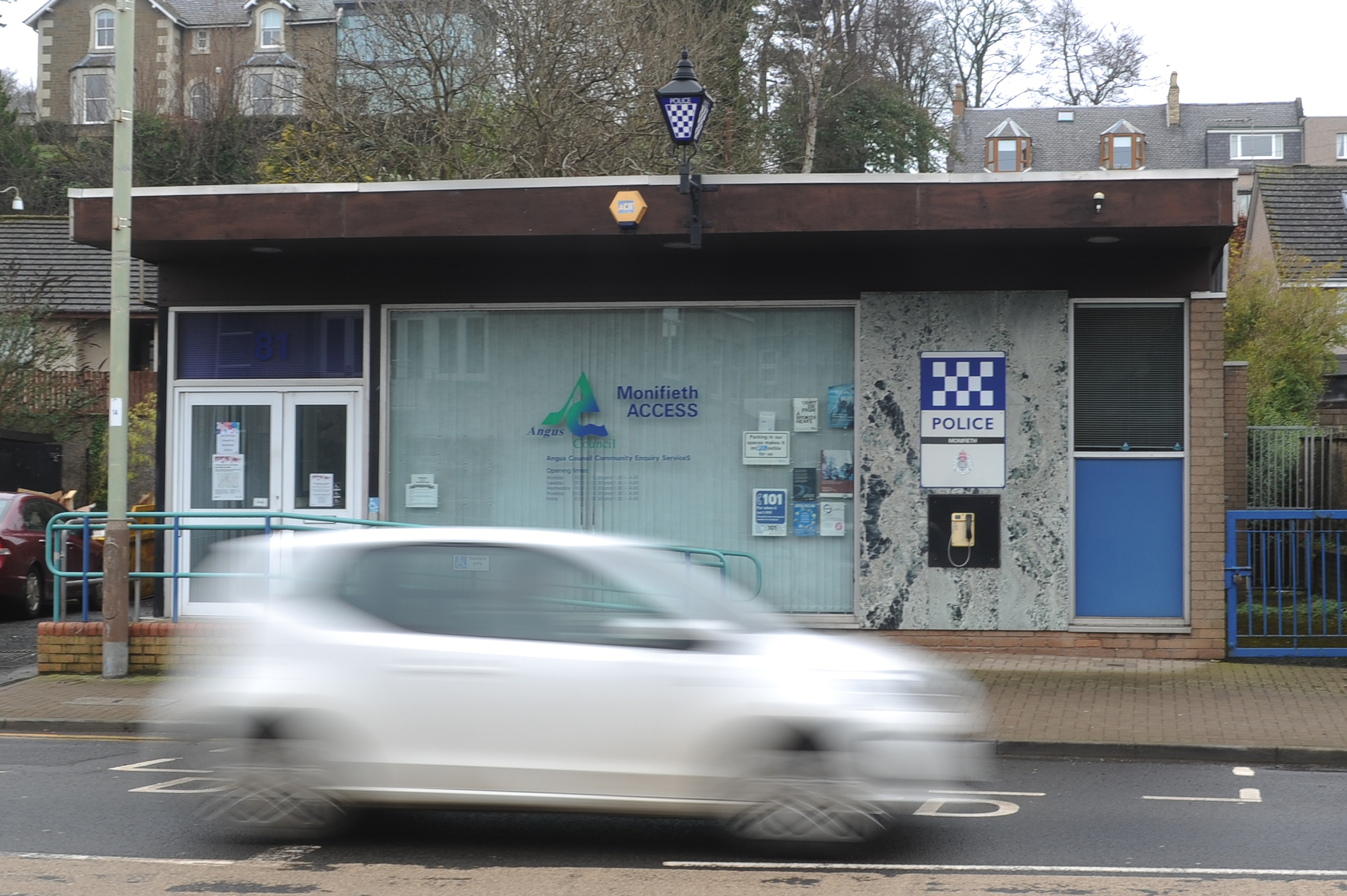 Monifieth police currently share a council Access office but may move into the local library.