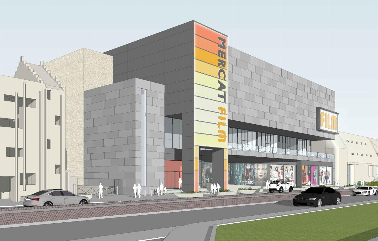 An artist's impression of the proposed cinema development.