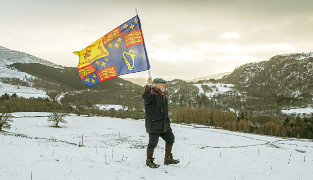 James Rattray of the Soldiers of Killiecrankie group on the battlefield.