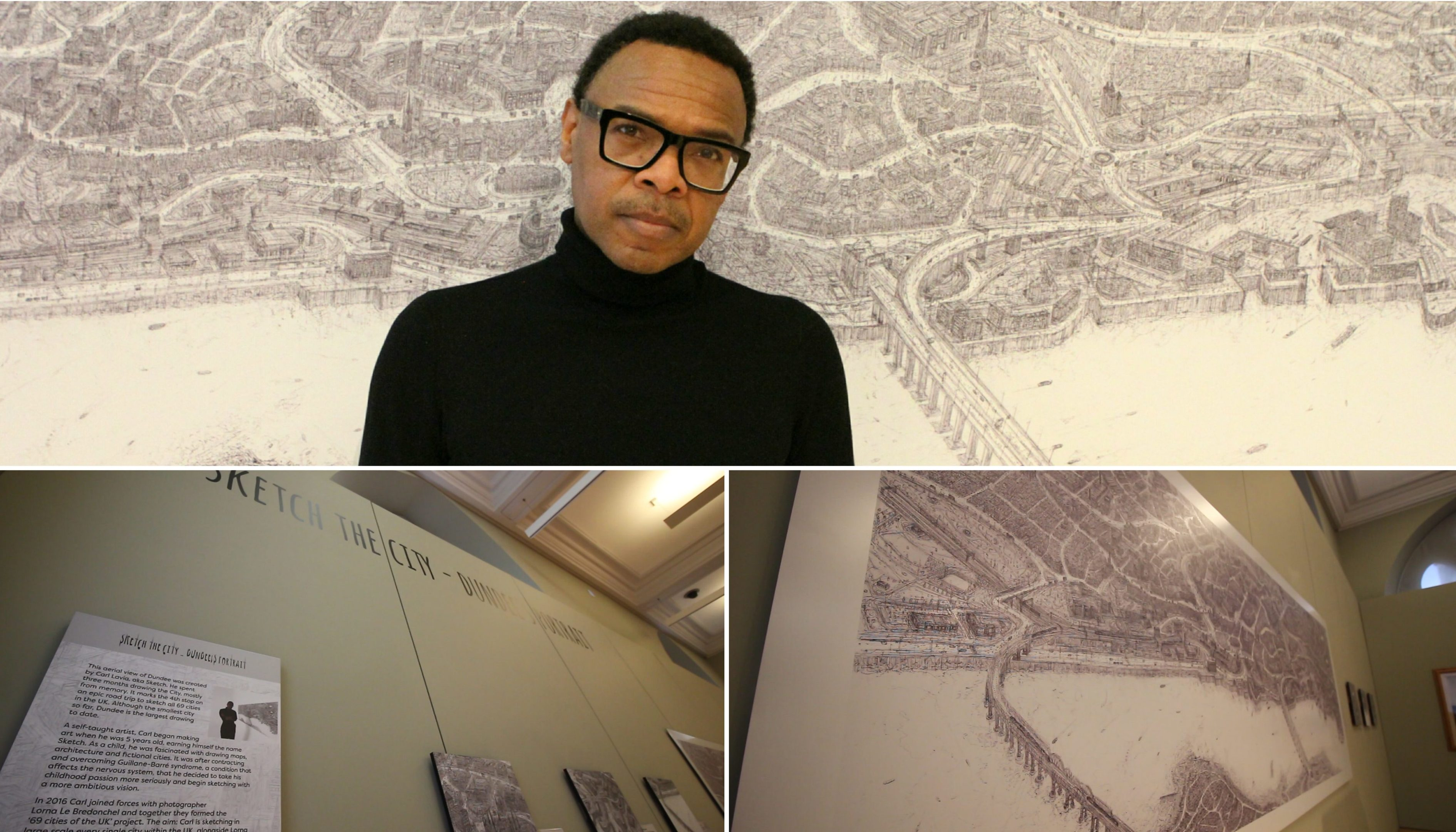 Carl Lavia's sketch of Dundee was revealed this morning