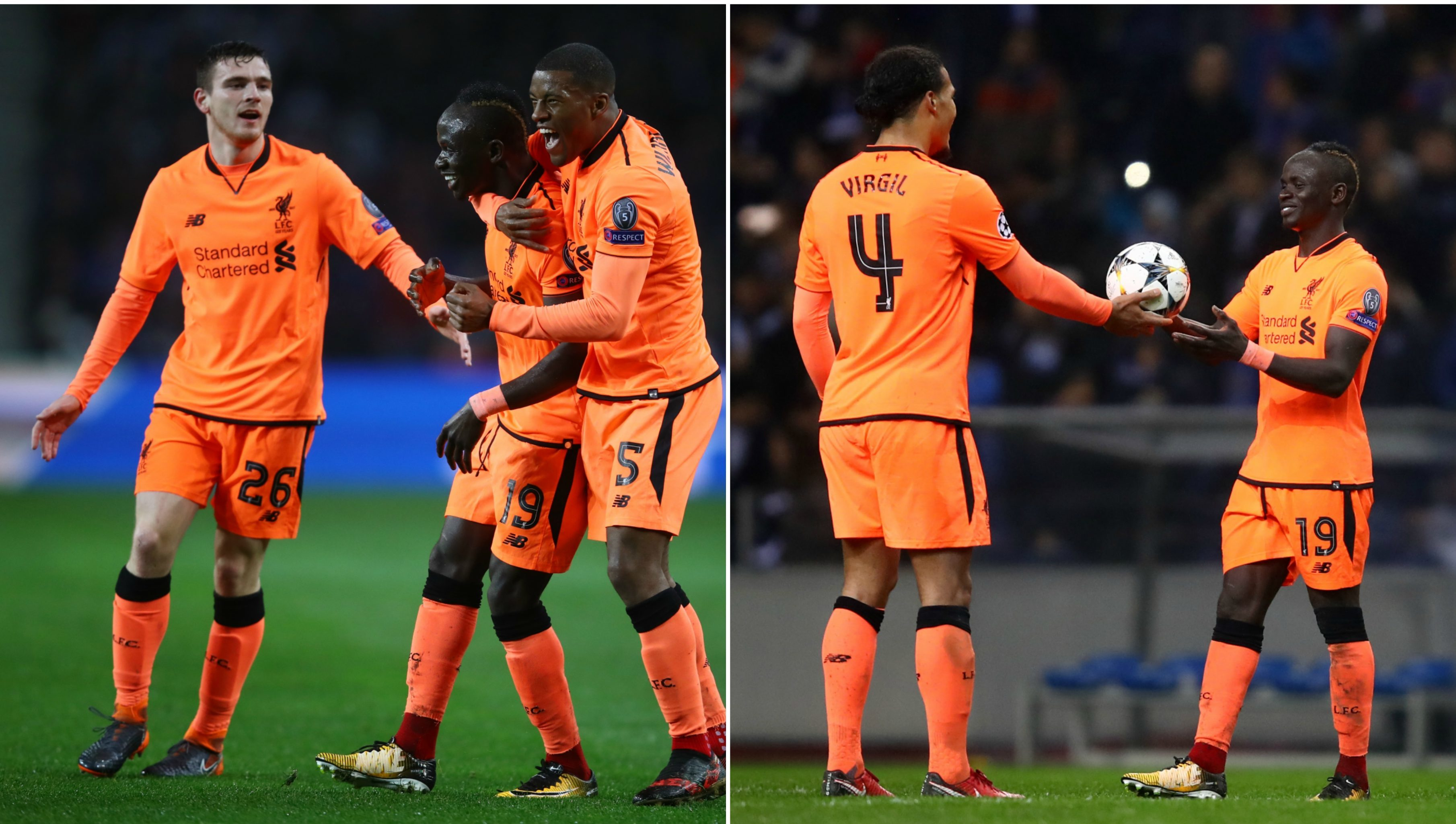 Andy Robertson claimed the match ball for team mate Sadio Mane after the clash with FC Porto