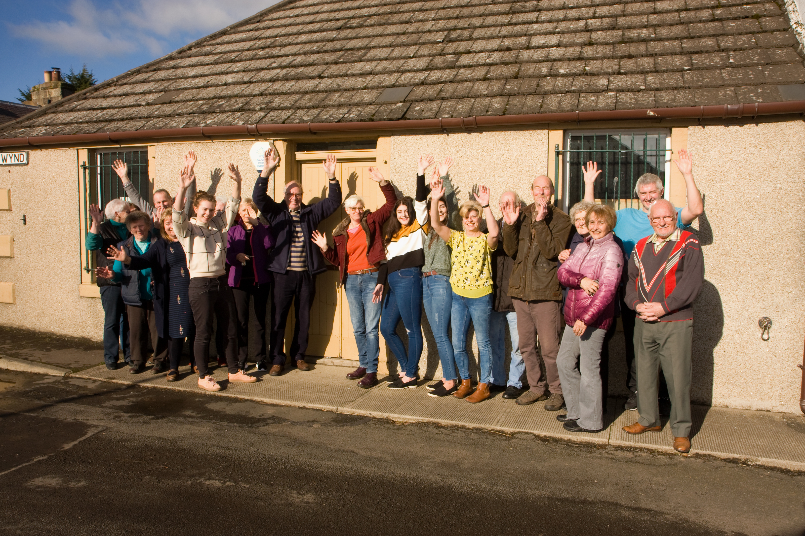 Locals celebrate after news of the funding was confirmed.