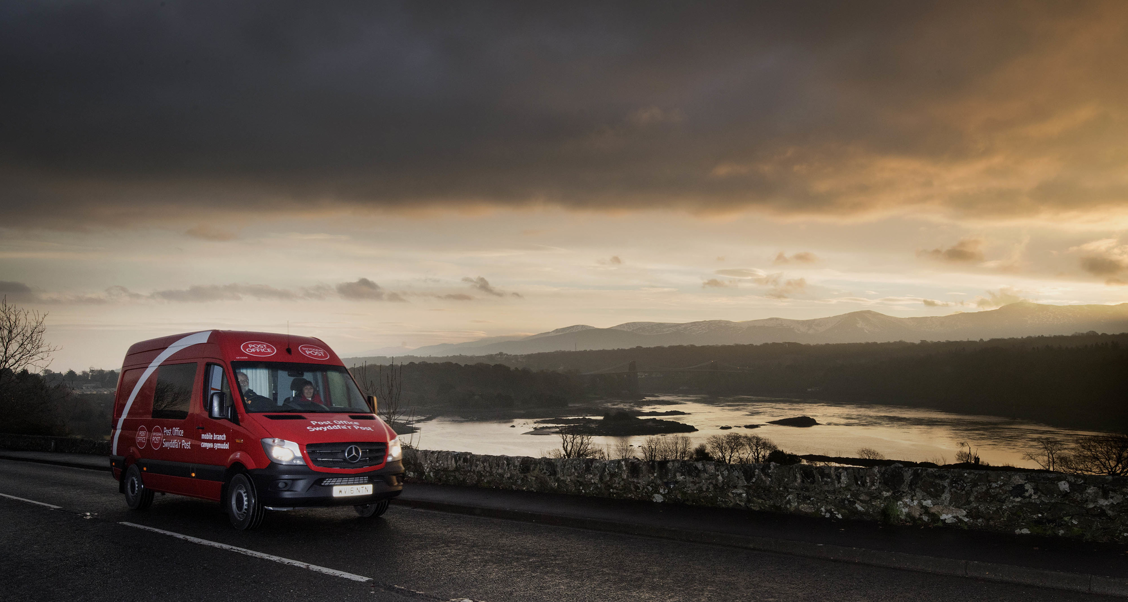 Bangor Post Office postmaster Brian Charlton drives a new mobile Post Office van, which has been created to reach those without a Post Office nearby. The same sort of thing may be coming to Fife and Perthshire.