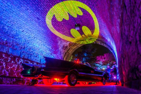 The Batmobile was among the highlights during the Superhero nights.