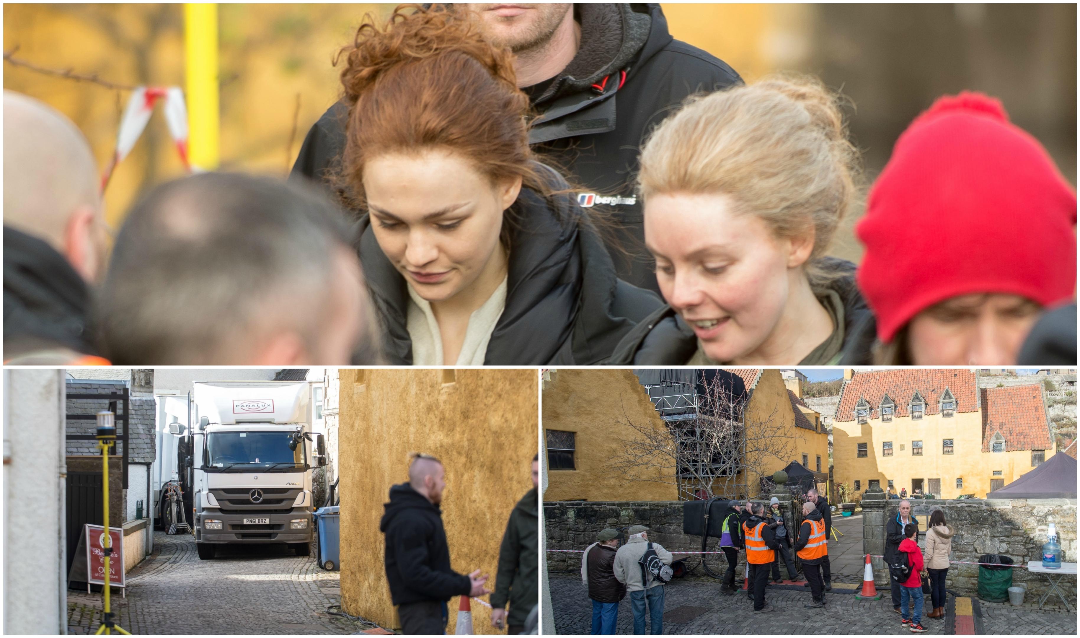 Outlander filming gets underway in Culross.