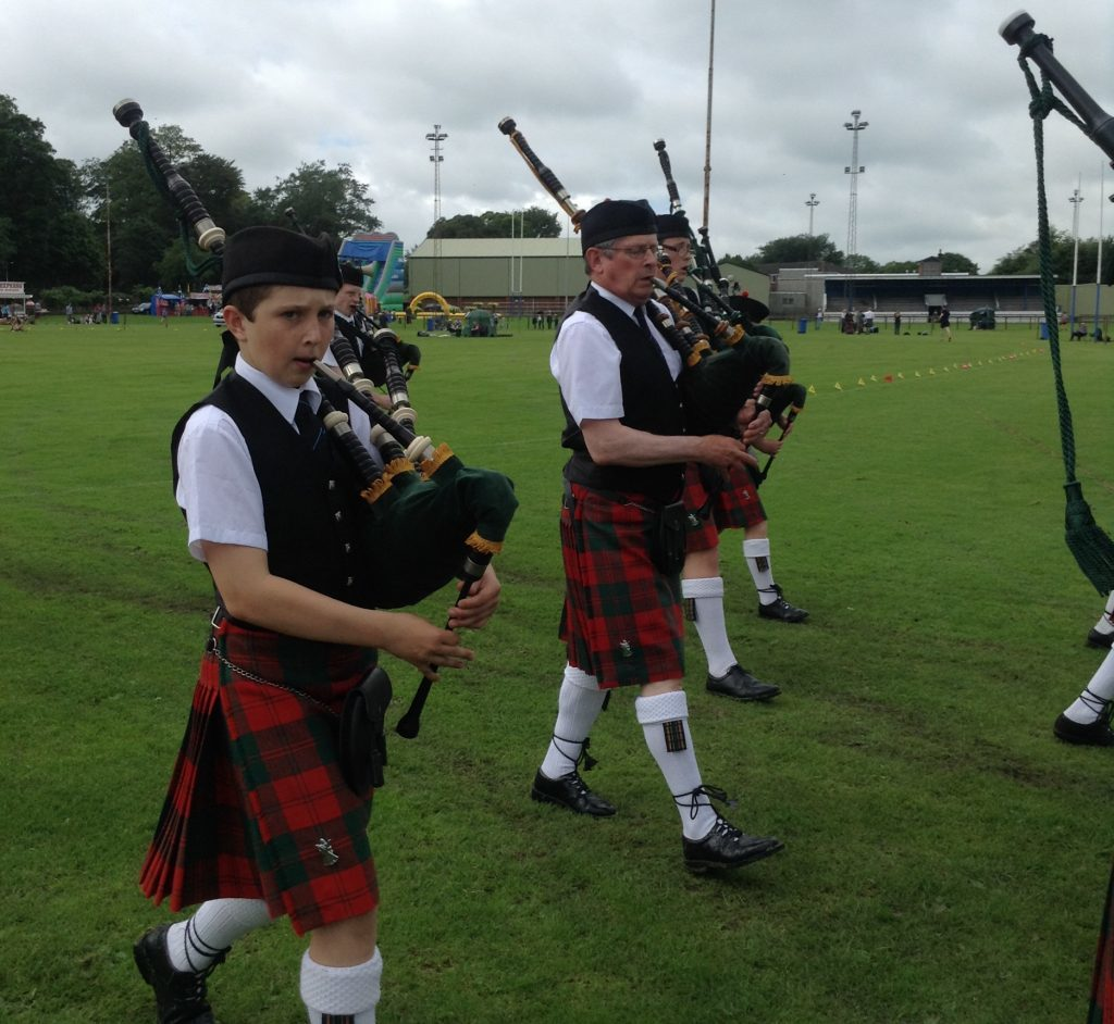 Douglas has performed at highland games and childrens galas in Cupar