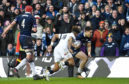 Sean Maitland scores Scotland's second try, launched by The Pass from Finn Russell to Huw Jones.