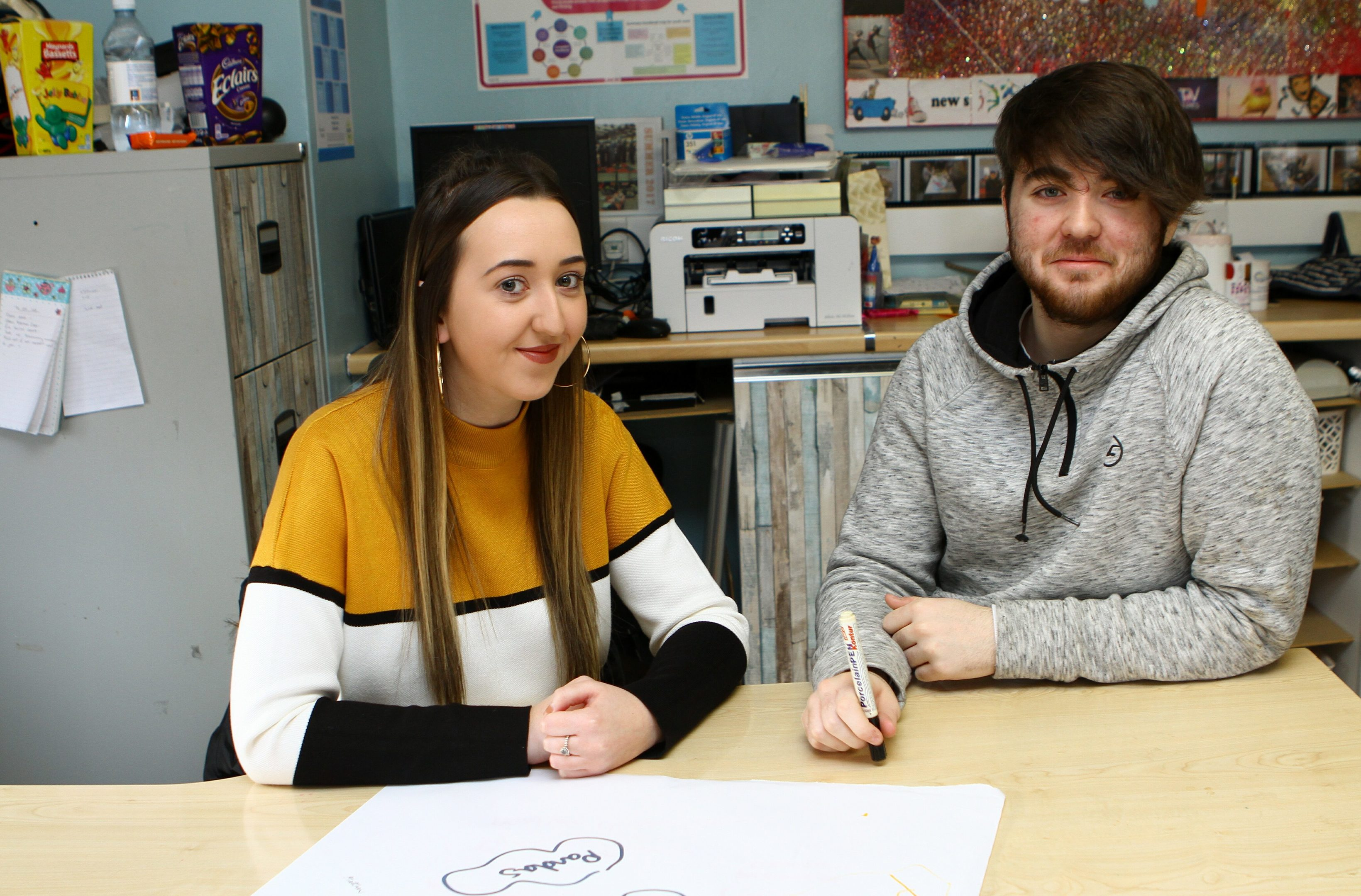 Kelsey McLellan - CLD student and Matthew Johnston - Caretaker and Youth Worker at Rock Solid in Douglas, Dundee