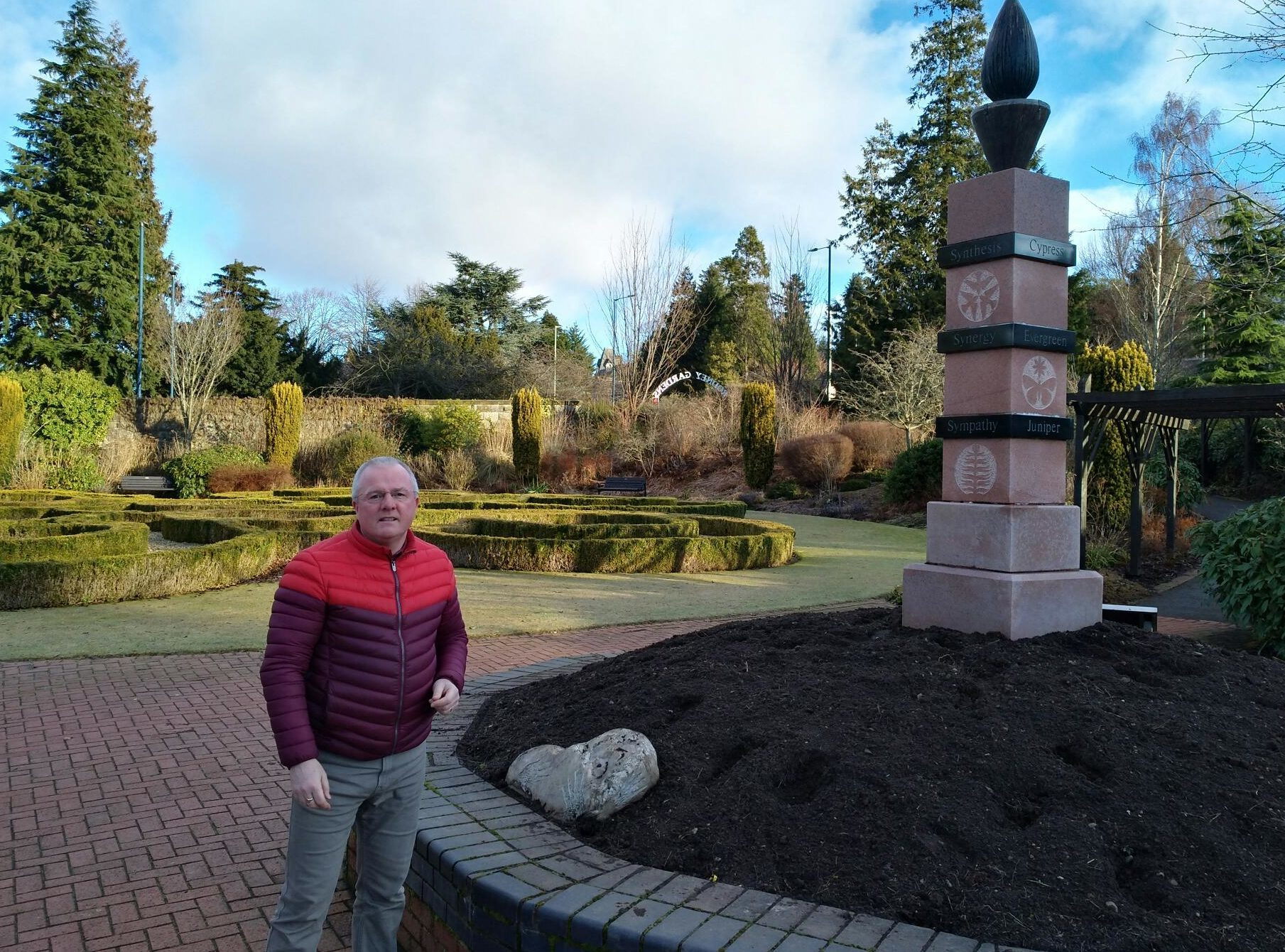 Councillor Peter Barrett beside damaged flower beds at Rodney Gardens, Perth in the wake of a spate of anti-social behaviour in the city.