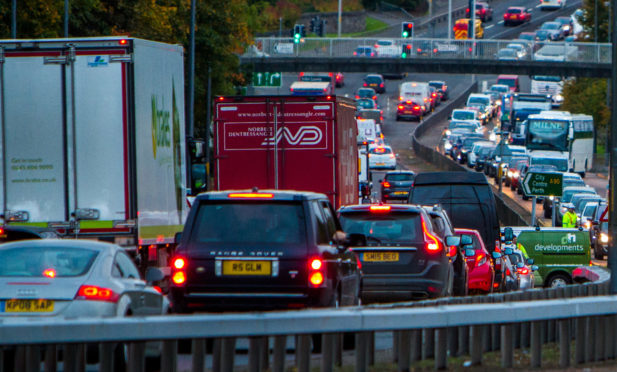 The Forfar Road passing Fintry. Xplore has said it wants to avoid regular congestion there.
