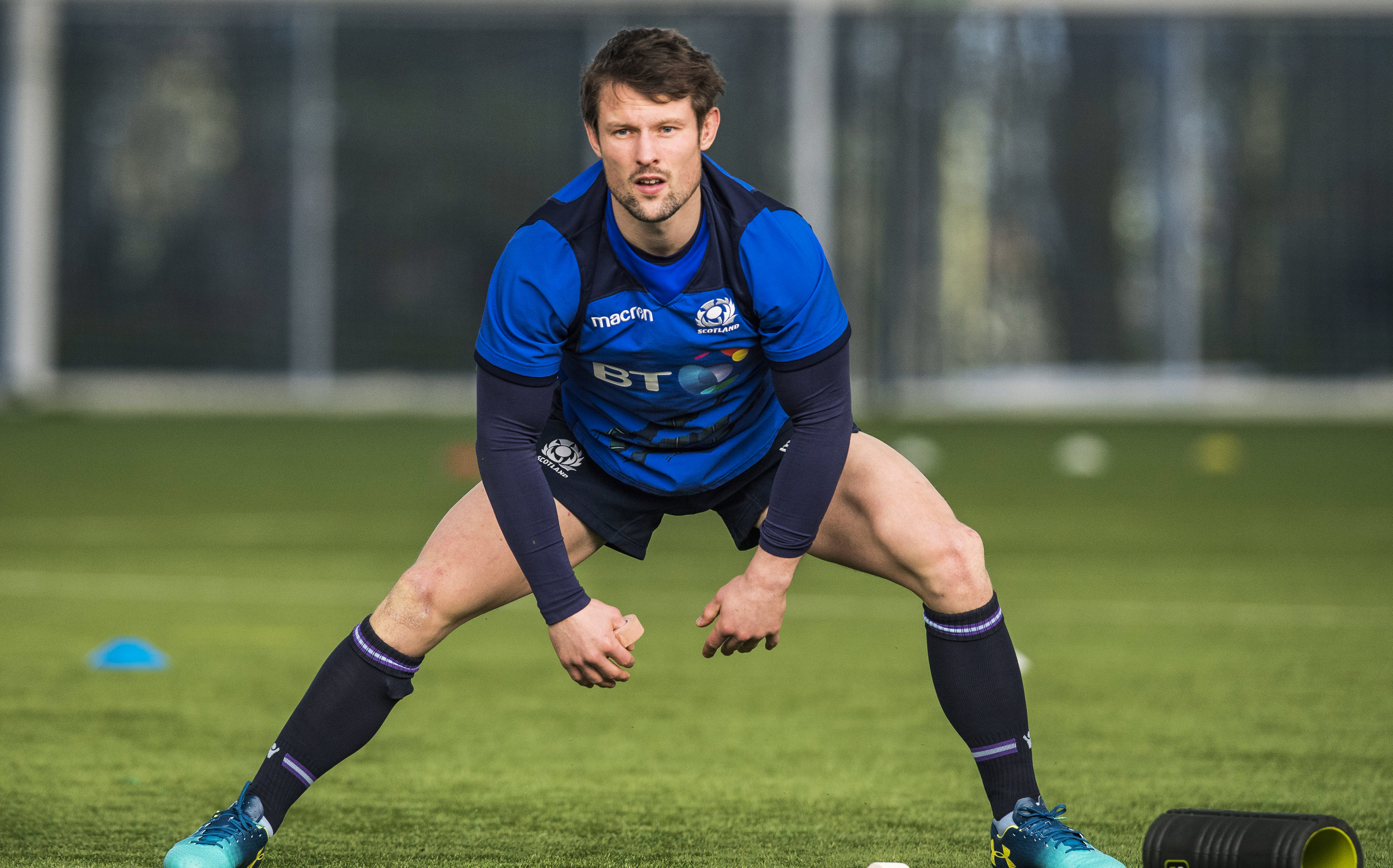 Peter Horne back in training with Scotland at Oriam.
