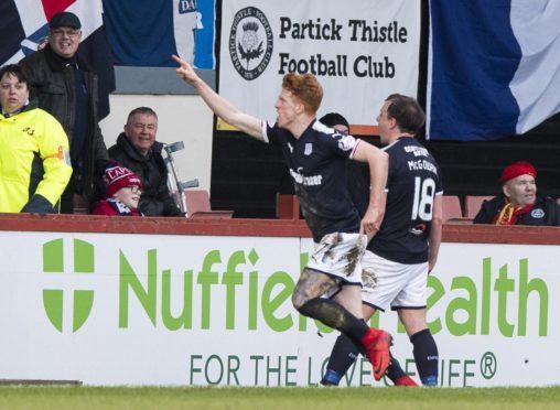 Simon Murray celebrates.