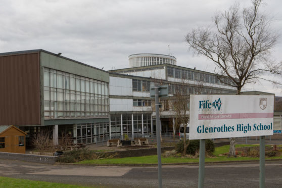 Police attended Glenrothes High School
