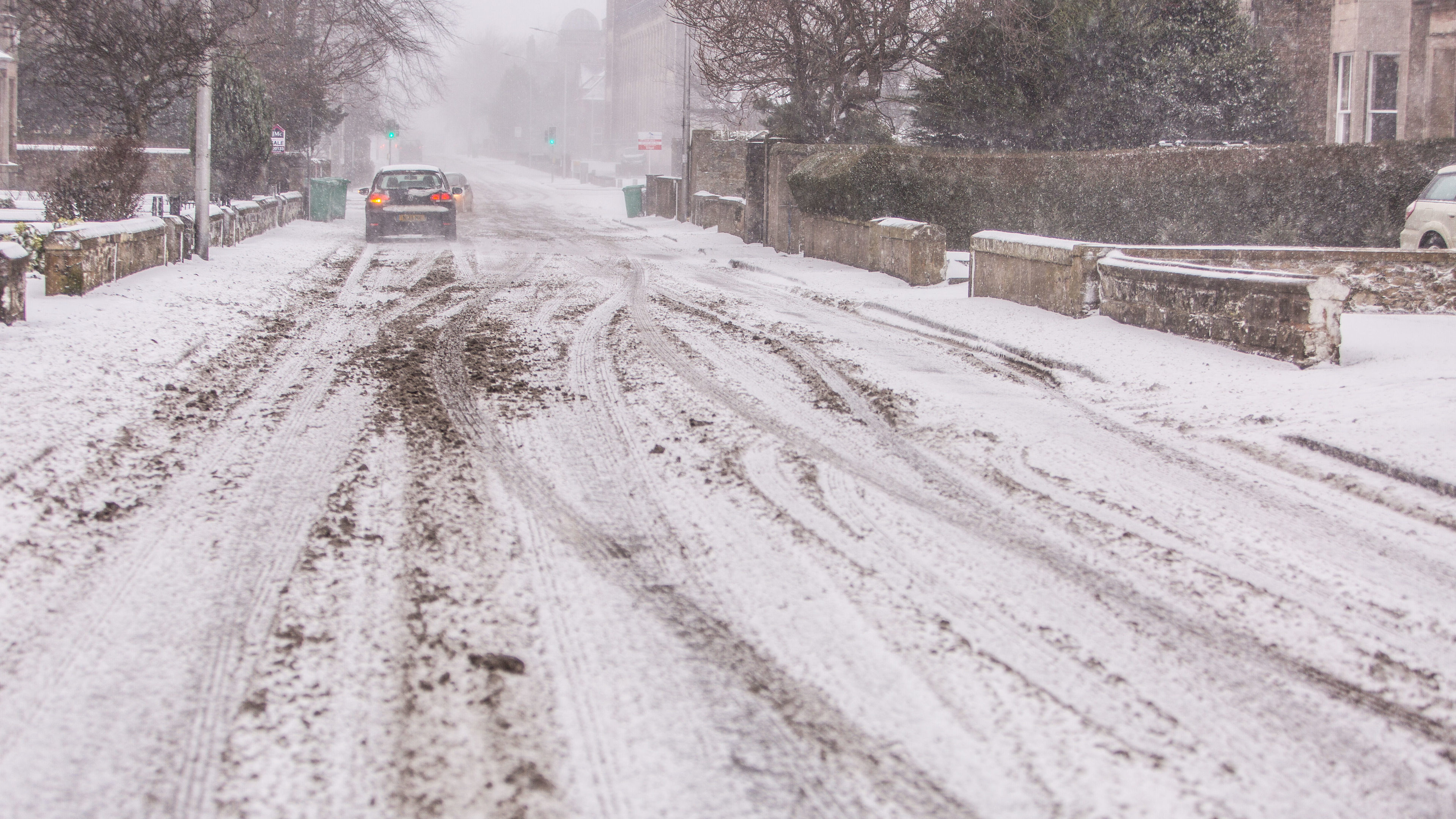Roads have been treacherous throughout Fife today, prompting another early call off for schools.