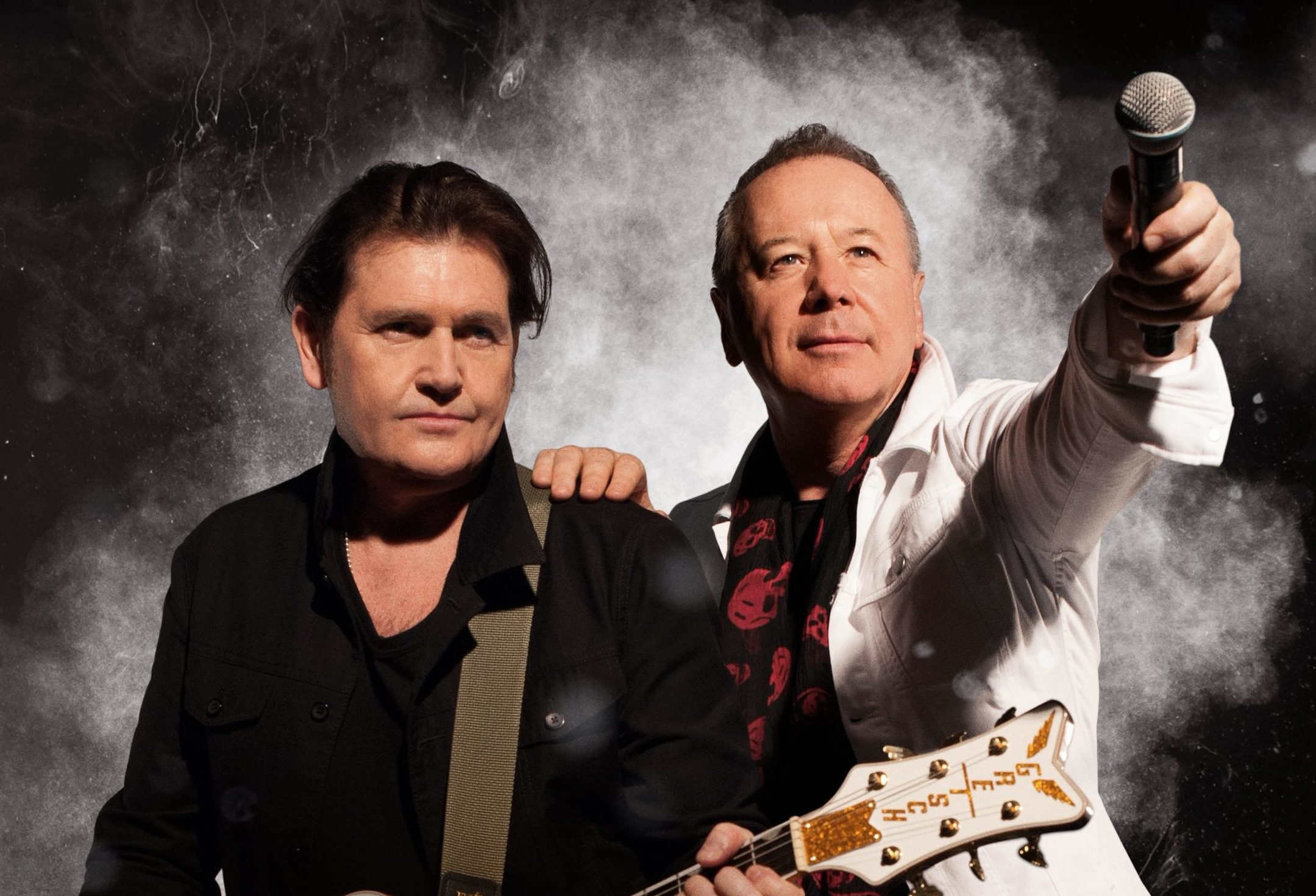 Charlie Burchill and Jim Kerr of Simple Minds.