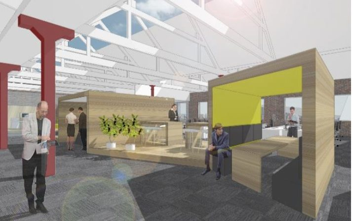 An artists impression of how the new building could look.