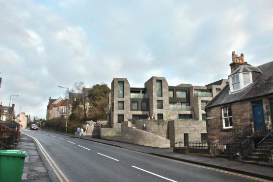 An artist's impression of how the proposed apartments could look.